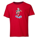 1990 FIFA World Cup Ciao Mascot Logo Youth T-Shirt (Red)