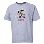 1994 FIFA World Cup Striker Mascot Logo Youth T-Shirt (Grey)
