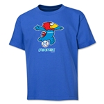 1998 FIFA World Cup Footix Mascot Logo Youth T-Shirt (Royal)