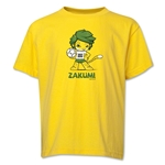 2010 FIFA World Cup Zakumi Mascot Logo Youth T-Shirt (Yellow)