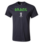 Brazil 2014 FIFA World Cup Brazil(TM) Youth Core T-Shirt (Black)