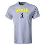 Brazil 2014 FIFA World Cup Brazil(TM) Youth Core T-Shirt (Gray)