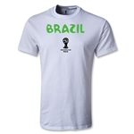 Brazil 2014 FIFA World Cup Brazil(TM) Youth Core T-Shirt (White)