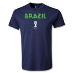 Brazil 2014 FIFA World Cup Brazil(TM) Youth Core T-Shirt (Navy)