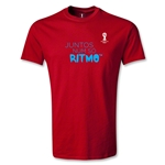 2014 FIFA World Cup Brazil(TM) Youth Portugese All In One Rhythm T-Shirt (Red)