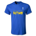 2014 FIFA World Cup Brazil(TM) Youth Portugese All In One Rhythm T-Shirt (Royal)