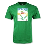 2014 FIFA World Cup Brazil (TM) Official Event Poster Youth T-Shirt (Green)