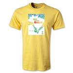 2014 FIFA World Cup Brazil(TM) Official Event Poster Youth T-Shirt (Yellow)