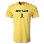 Australia 2014 FIFA World Cup Brazil(TM) Youth Core T-Shirt (Yellow)