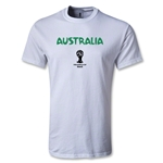Australia 2014 FIFA World Cup Brazil(TM) Youth Core T-Shirt (White)