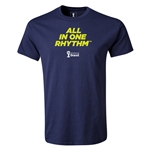 2014 FIFA World Cup Brazil(TM) Youth All In One Rhythm T-Shirt (Navy)