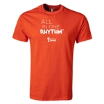 2014 FIFA World Cup Brazil(TM) Youth All In One Rhythm T-Shirt (Orange)