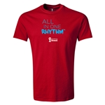2014 FIFA World Cup Brazil(TM) Youth All In One Rhythm T-Shirt (Red)