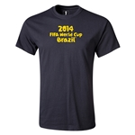 2014 FIFA World Cup Brazil(TM) Youth Logotype T-Shirt (Black)