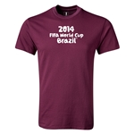 2014 FIFA World Cup Brazil(TM) Youth Logotype T-Shirt (Maroon)