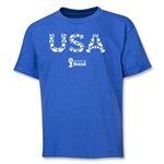 USA 2014 FIFA World Cup Brazil(TM) Youth Elements T-Shirt (Royal)