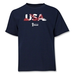 USA 2014 FIFA World Cup Brazil(TM) Youth Palm T-Shirt (Navy)