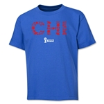 Chile 2014 FIFA World Cup Brazil(TM) Youth Elements T-Shirt (Royal)