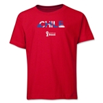 Chile 2014 FIFA World Cup Brazil(TM) Youth Palm T-Shirt (Red)