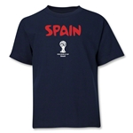 Spain 2014 FIFA World Cup Brazil(TM) Youth Core T-Shirt (Navy)