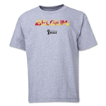 Belgium 2014 FIFA World Cup Brazil(TM) Youth Palm T-Shirt (Grey)