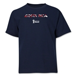 Costa Rica 2014 FIFA World Cup Brazil(TM) Youth Palm T-Shirt (Navy)
