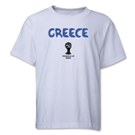 Greece 2014 FIFA World Cup Brazil(TM) Youth Core T-Shirt (White)