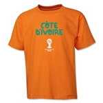 Cote d'Ivoire 2014 FIFA World Cup Brazil(TM) Youth Core T-Shirt (Orange)