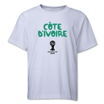 Cote d'Ivoire 2014 FIFA World Cup Brazil(TM) Youth Core T-Shirt (White)