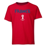 France 2014 FIFA World Cup Brazil(TM) Youth Core T-Shirt (Red)