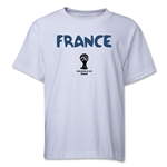 France 2014 FIFA World Cup Brazil(TM) Youth Core T-Shirt (White)