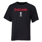 England 2014 FIFA World Cup Brazil(TM) Youth Core T-Shirt (Black)