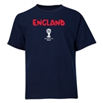 England 2014 FIFA World Cup Brazil(TM) Youth Core T-Shirt (Navy)