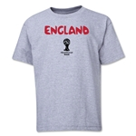 England 2014 FIFA World Cup Brazil(TM) Youth Core T-Shirt (Grey)