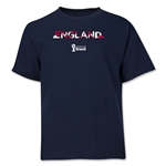 England 2014 FIFA World Cup Brazil(TM) Youth Palm T-Shirt (Navy)