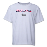 England 2014 FIFA World Cup Brazil(TM) Youth Palm T-Shirt (White)