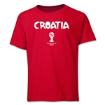 Croatia 2014 FIFA World Cup Brazil(TM) Youth Palm T-Shirt (Red)