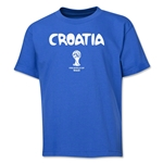 Croatia 2014 FIFA World Cup Brazil(TM) Youth Palm T-Shirt (Royal)