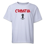 Croatia 2014 FIFA World Cup Brazil(TM) Youth Palm T-Shirt (White)
