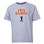 Cote d'Ivoire 2014 FIFA World Cup Brazil(TM) Youth Core T-Shirt (Grey)