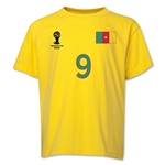 Cameroon 2014 FIFA World Cup Brazil(TM) Youth Number 9 T-Shirt (Yellow)