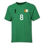 Cote d'Ivoire 2014 FIFA World Cup Brazil(TM) Youth Number 8 T-Shirt (Green)
