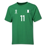 Nigeria 2014 FIFA World Cup Brazil(TM) Youth Number 11 T-Shirt (Green)