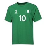 Nigeria 2014 FIFA World Cup Brazil(TM) Youth Number 10 T-Shirt (Green)
