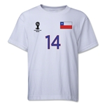 Chile 2014 FIFA World Cup Brazil(TM) Youth Number 14 T-Shirt (White)