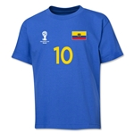 Ecuador 2014 FIFA World Cup Brazil(TM) Youth Number 10 T-Shirt (Royal)