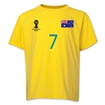Australia 2014 FIFA World Cup Brazil(TM) Youth Number 7 T-Shirt (Yellow)