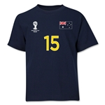 Australia 2014 FIFA World Cup Brazil(TM) Youth Number 15 T-Shirt (Navy)