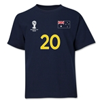 Australia 2014 FIFA World Cup Brazil(TM) Youth Number 20 T-Shirt (Navy)
