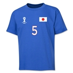 Japan 2014 FIFA World Cup Brazil(TM) Youth Number 5 T-Shirt (Royal)